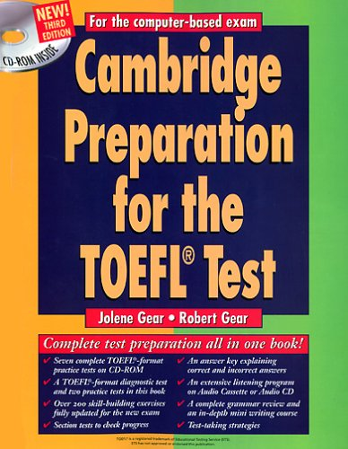 9783125333611: Cambridge Preparation for the TOEFL Test with CD-ROM.