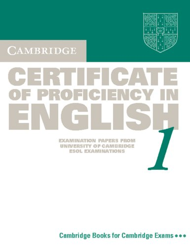 9783125334014: Cambridge Certificate of Proficiency English 1. Student's Book