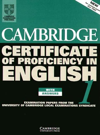 9783125334021: Cambridge Certificate of Proficiency English 1. Student's Book with answers.
