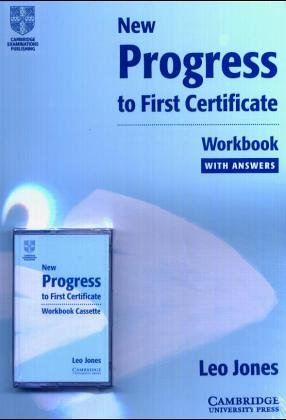 9783125337473: New Progress to First Certificate. Workbook with Cassettes