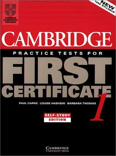 9783125337787: Cambridge Practice Tests for First Certificate, Self-study edition