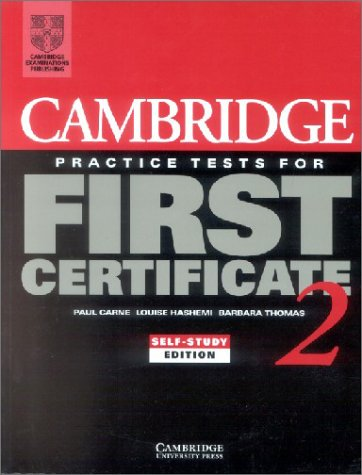 9783125337886: Cambridge Practice Tests for First Certificate, Self-study edition