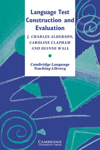 9783125338661: Language Test Construction and Evaluation:(Cambridge Language Teaching Library)