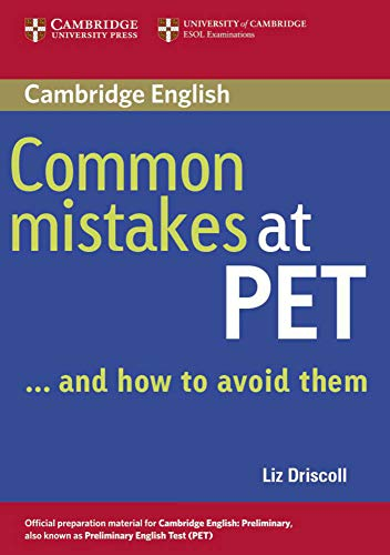 9783125341272: Common Mistakes at PET / Book. Lower intermediate