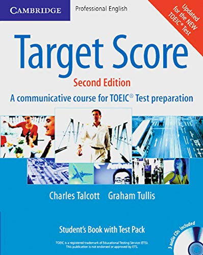 9783125342330: Target Score for TOEIC. Student's Book with Audio CDs (2), Test booklet with Audio CD and Answer Key