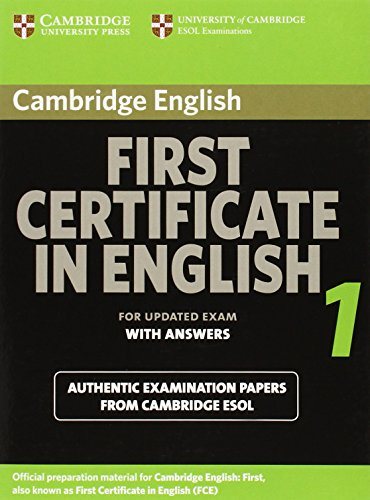 9783125342439: Cambridge First Certificate in English 1. Student's Book with answers