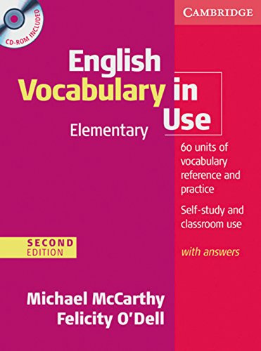 9783125342897: English Vocabulary in Use - Elementary. Edition with answers and CD-ROM: Second Edition