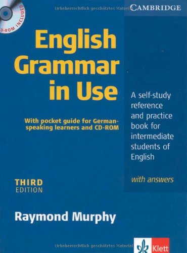 9783125343368: English Grammar in Use. Edition for German learners with answers, pullout grammar and CD-ROM. Intermediate to Upper Intermediate. Third Edition: A ... book for intermediate students of English