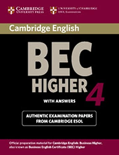 9783125345690: Cambridge BEC. Student's Book with answers. Higher 4