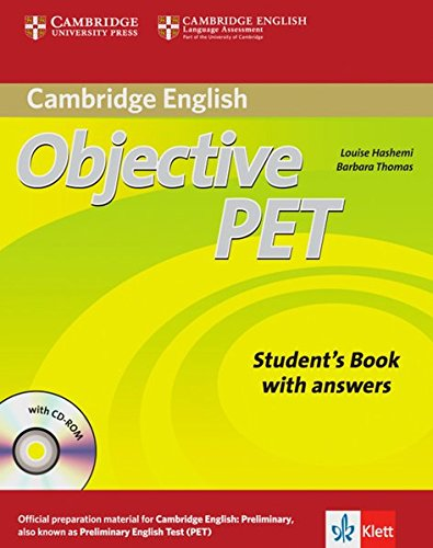 9783125346383: Objective PET. Student's book with answers and CD-ROM