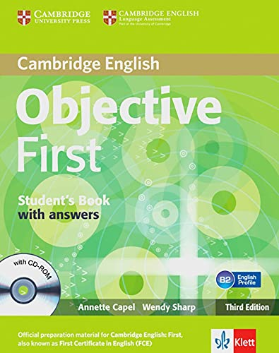 9783125346390: Objective First Klett edition. Student's book with answers and CD-ROM