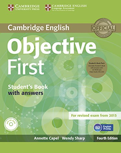 9783125350625: Objective First - Fourth Edition. Student's Book Pack (Student's Book with answers with CD-ROM and Class Audio CDs(2))
