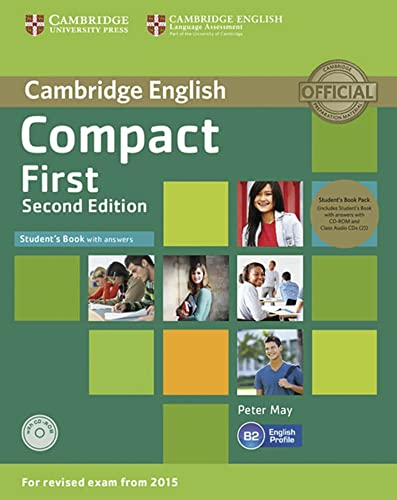 9783125352643: Compact First. Student's Book Pack (Student's Book with answers with CD-ROM and Class Audio CDs(2)): 2nd Edition