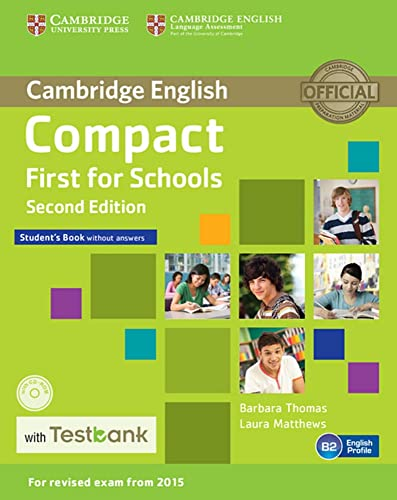 9783125353640: Testbank Compact First for Schools Second edition. Student's Book without answers with CD-ROM with Testbank