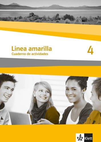 9783125369313: Línea amarilla 4. Spanisch als 2. Fremdsprache. Arbeitsheft mit Audio-CD