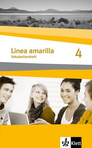 9783125369368: Línea amarilla 4. Spanisch als 2. Fremdsprache. Vokabellernheft