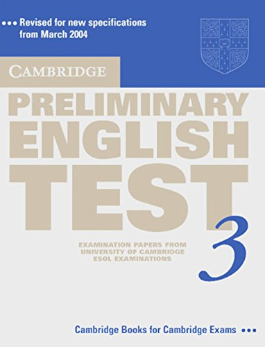 9783125392380: Cambridge Preliminary English Test 3: Examination papers from University of Cambridge ESOL Examinations