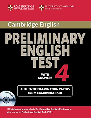 9783125395190: Cambridge Preliminary English Test 4. Students Book with answers. With CD