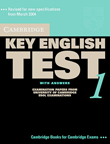 9783125395312: Cambridge Key English Test 1. Self-study Pack (Student's Book with answers + Audio CD)