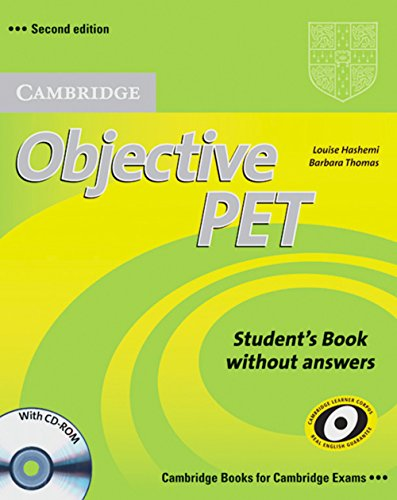 9783125396685: Objective PET - Second Edition. Student's Book without answers and CD-ROM