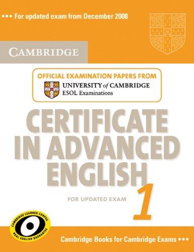 9783125396920: Cambridge Certificate in Advanced English 1: Student's Book