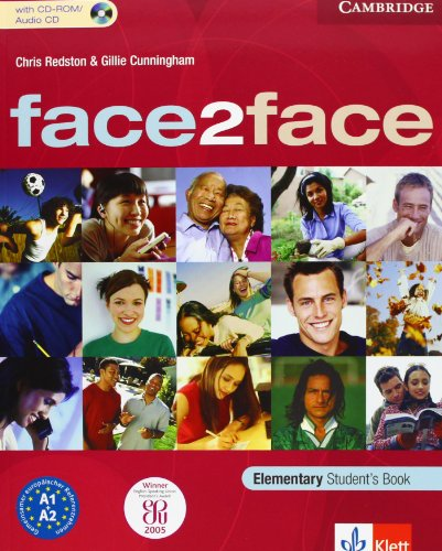 9783125397316: face2face Elementary Student's Book with CD ROM Klett Edition.