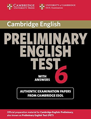 9783125397835: Cambridge Preliminary English Test 6. Student's Book with answers
