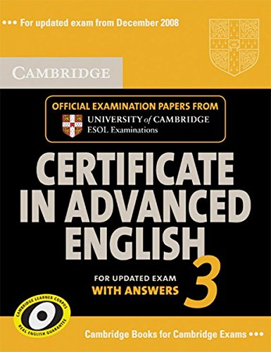 9783125397934: Cambridge CAE 3 - Updated Exam. Official exam papers from University of Cambridge ESOL Examinations: Student's Book with answers