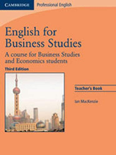 9783125398917: English for Business Studies - Third Edition. Teacher's Book