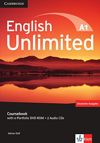 9783125399006: English Unlimited A1 - Starter. Coursebook with e-Portfolio DVD-ROM + 2 Audio-CDs