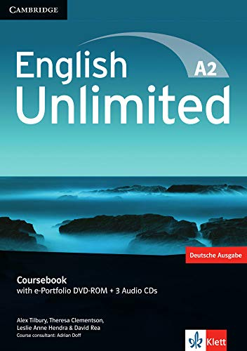 9783125399037: English Unlimited A2 - Elementary. Coursebook with e-Portfolio DVD-ROM + 3 Audio-CDs