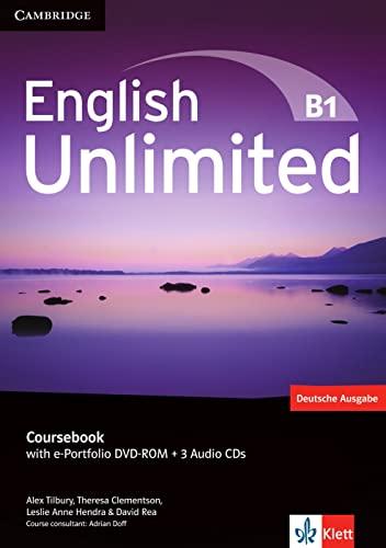 9783125399068: English Unlimited B1 - Pre-Intermediate. Coursebook with e-Portfolio DVD-ROM + 3 Audio-CDs