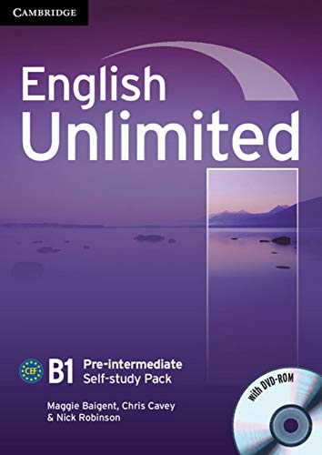 9783125399075: English Unlimited B1 - Pre-Intermediate. Self-study Pack with DVD-ROM