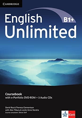 9783125399150: English Unlimited B1+ -Intermediate / Coursebook with e-Portfolio DVD-ROM + 3 Audio-CDs