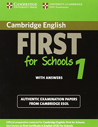 9783125399327: Cambridge First Certificate in English for Schools 1. Student's Book with answers