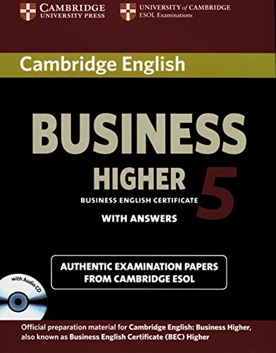 9783125399457: Cambridge BEC / Higher Student's Book Pack 5 (Student's Book with answers and Audio CD)