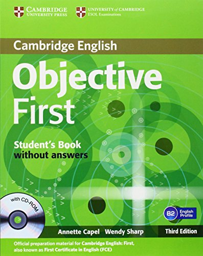 9783125400306: Objective First Certificate - Third Edition / Student's Book without answers with CD-ROM