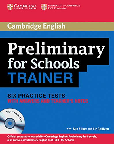 9783125400443: Cambridge Preliminary English Test for Schools Trainer. Practice Tests with answers and 3 Audio-CDs