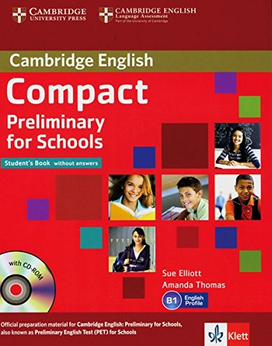 9783125401013: Compact Preliminary for Schools. Student's Book without answers with CD-ROM