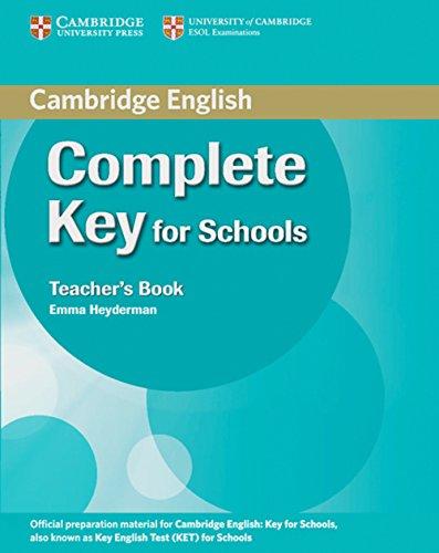 9783125401211: Complete Key for Schools. Teacher's Book