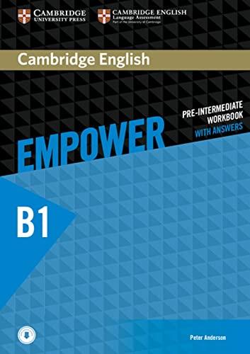 9783125403796: Cambridge English Empower. Workbook + downloadable Audio (B1)