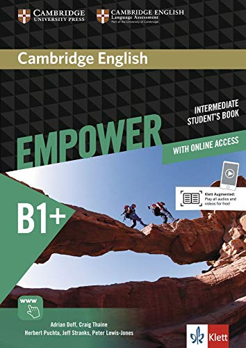 9783125403840: Cambridge English Empower Intermediate Student's Book with Online Assessment and Practice, and Online Workbook Klett Edition