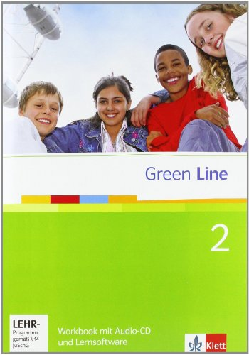 9783125471382: Green Line 2. Workbook mit Audio CD und CD-ROM: 6. Klasse