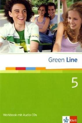 9783125471658: Green Line 5. Workbook. 9. Klasse: mit 2 Audio-CDs