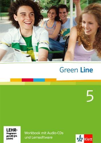 9783125471689: Green Line 5. Workbook mit  Audio-CD und Lernsoftware. 9. Klasse