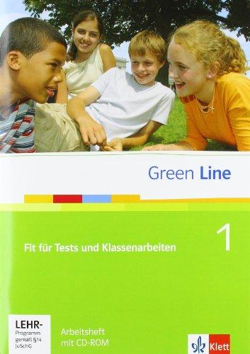 9783125472013: Green Line - Ausgabe Gymnasium Bd 1. Fit für Tests und Klassenarbeiten. Buch u. CD-ROM mit Lösungsheft