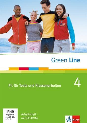 9783125472044: Green Line 4. Fit für Tests und Klassenarbeiten, Arbeitsheft und CD-ROM mit Lösungsheft: Arbeitsheft