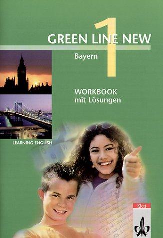 9783125472143: Green Line New, Ausgabe für Bayern, Bd.1 : Workbook mit Lösungen, 5. Schuljahr
