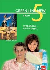 9783125472549: Green Line New, Ausgabe für Bayern, Bd.5 : Workbook mit Lösungen, 9. Schuljahr
