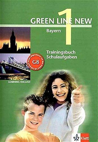 9783125472709: Green Line New 1. Trainingsbuch Schulaufgaben, Heft mit Audio-CD. Bayern: Gymnasium
